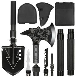 Survival Camping Hiking Knife Shovel Axe Saw Gear Emergency