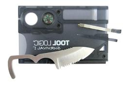 Tool Logic SVC1 Survival Card Tool With 1/2 Serrated Knife,