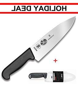 Victorinox Swiss army, Fibrox Straight Edge Chef's Knife, 8-