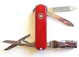 Victorinox Swiss Army Money Clip Pocket Knife, Red Alox
