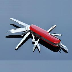 Swiss Style Army Knife Classic 11 Multitool Folding Camping
