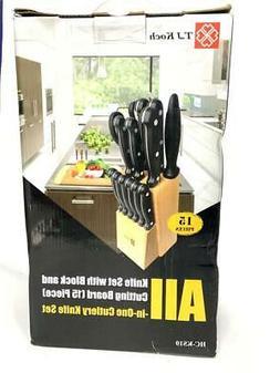 T.J Koch ,Knife Block Sets Stainless Steel Kitchen Knives 15