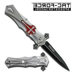 Tac-force RED Cross Folding Blade Pocket Knife, Model: , Out