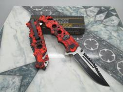 Tac Force Assisted Opening Rescue Glass Breaker Bright Red S