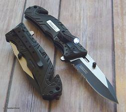7.75 INCH TAC-FORCE SHERIFF SPRING ASSISTED RESCUE KNIFE WIT