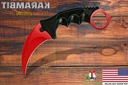 tactical combat karambit knife fixed blade neck