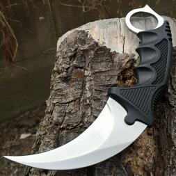 TACTICAL COMBAT KARAMBIT NECK KNIFE Survival Hunting BOWIE F