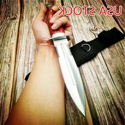 Tactical Dagger Knife Tanto Fixed Blade Hunting Military OUT