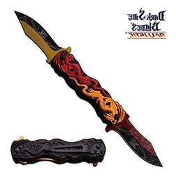 DARK SIDE BLADES TACTICAL DUAL DRAGON DOUBLE SIDED BLADE KNI