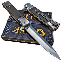 TEK Tactical Edge Knives: Black G10 Spring Assisted Opening