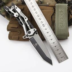 Tactical Survival Folding Blade Knife Knives Pocket Camping