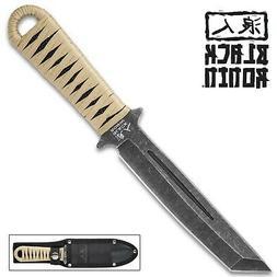 Black Ronin Tanto Boot Knife - Heavy Duty Nylon Sheath New U