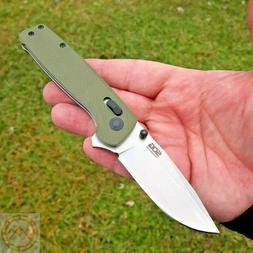 SOG Terminus XR OD Green G10 Folding D2 Folding Knife TM1022