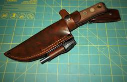 TOPS BOB, Field Craft Knife, Custom USA, Leather  Knife Shea