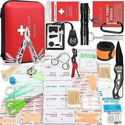 Aootek Upgraded first aid survival Kit.Emergency Kit earthqu