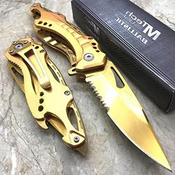 Only US MTech USA Gold Blade Hunting Camping Tactical Rescue