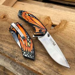 MTech USA Ballistic Beautiful Butterfly Handle Fantasy Pocke