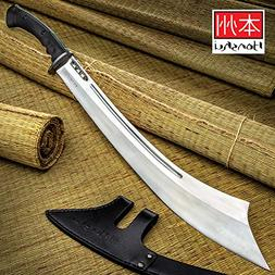 Honshu War Sword and Sheath - High Carbon Steel Blade, TPR H