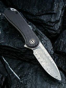 we knife civivi elementum c907ds damascus blade