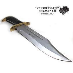"Wild Turkey Handmade Western Outlaw Bowie Knife 16.75"""