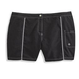 Tropical Escape Women's Swim Board Shorts Black Plus Size 20