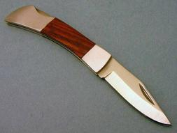 Wood Handle Lockback Folding Blade Pocket Knife NEW