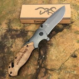 Browning X50 Folding Pocket Knife Outdoor Camping Tactical H