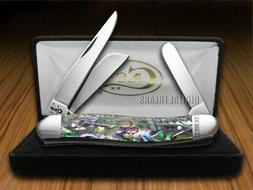CASE XX Genuine Abalone Stockman Stainless Pocket Knife Kniv