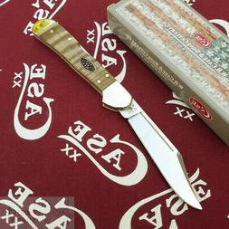 Case xx Mini Copperlock Knife Smooth Curly Maple Wood 25947