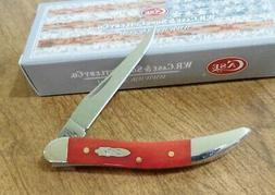 CASE XX New Dark Red Smooth Bone Handle 1 Blade Tiny Toothpi