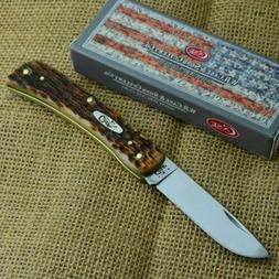 Case XX Sod Buster Jr Amber Jigged Bone Folding Pocket Knife