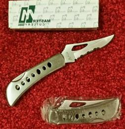 Master Cutlery YD-5010A2 Satin Stainless Steel Lockback Pock